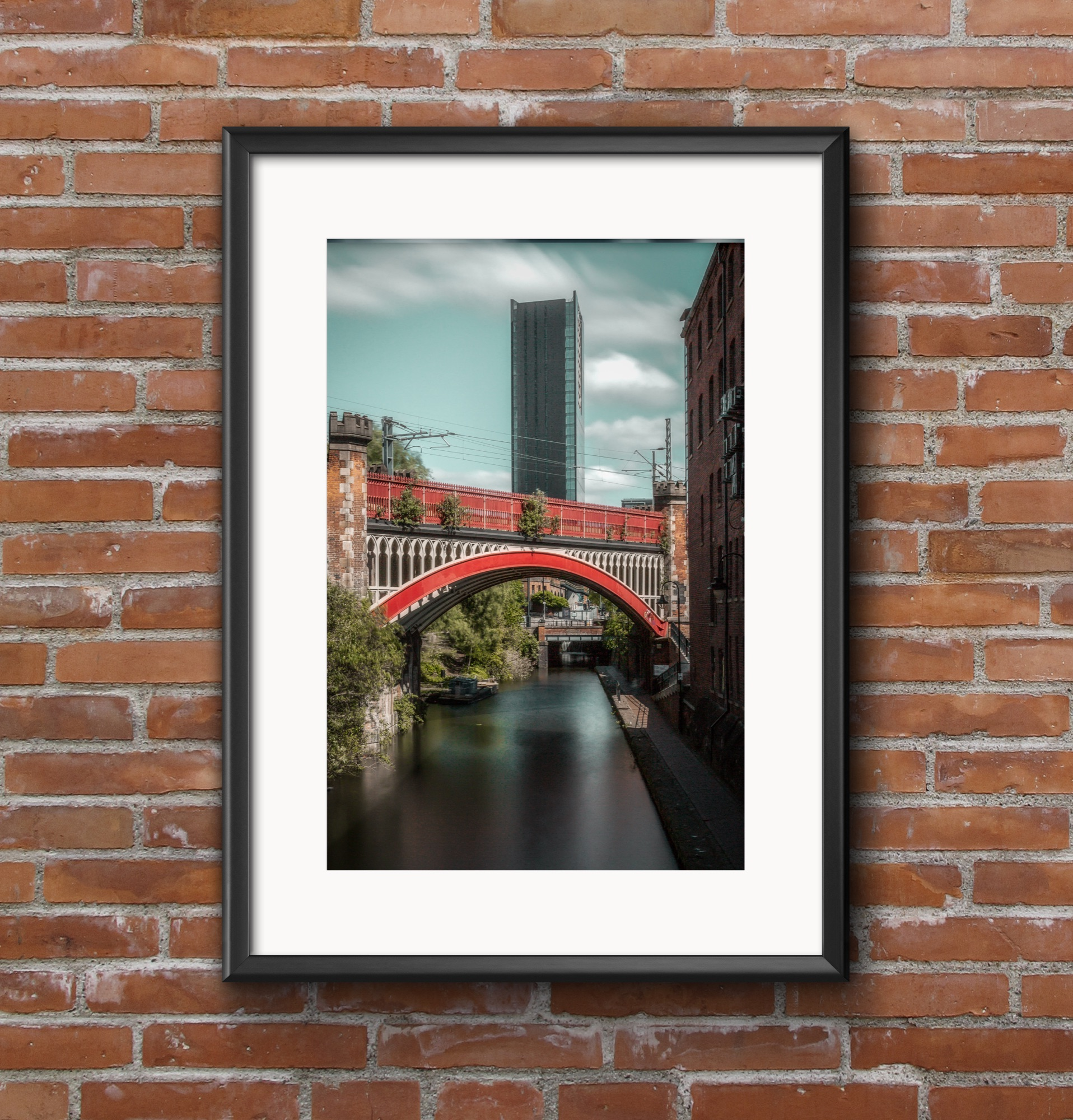 Manchester canal leading towards Beetham Tower.