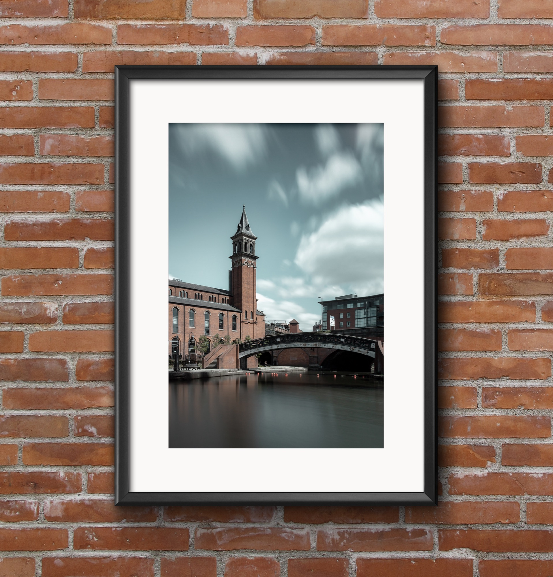 The grocers warehouse with tower, Castlefield canal, Manchester.