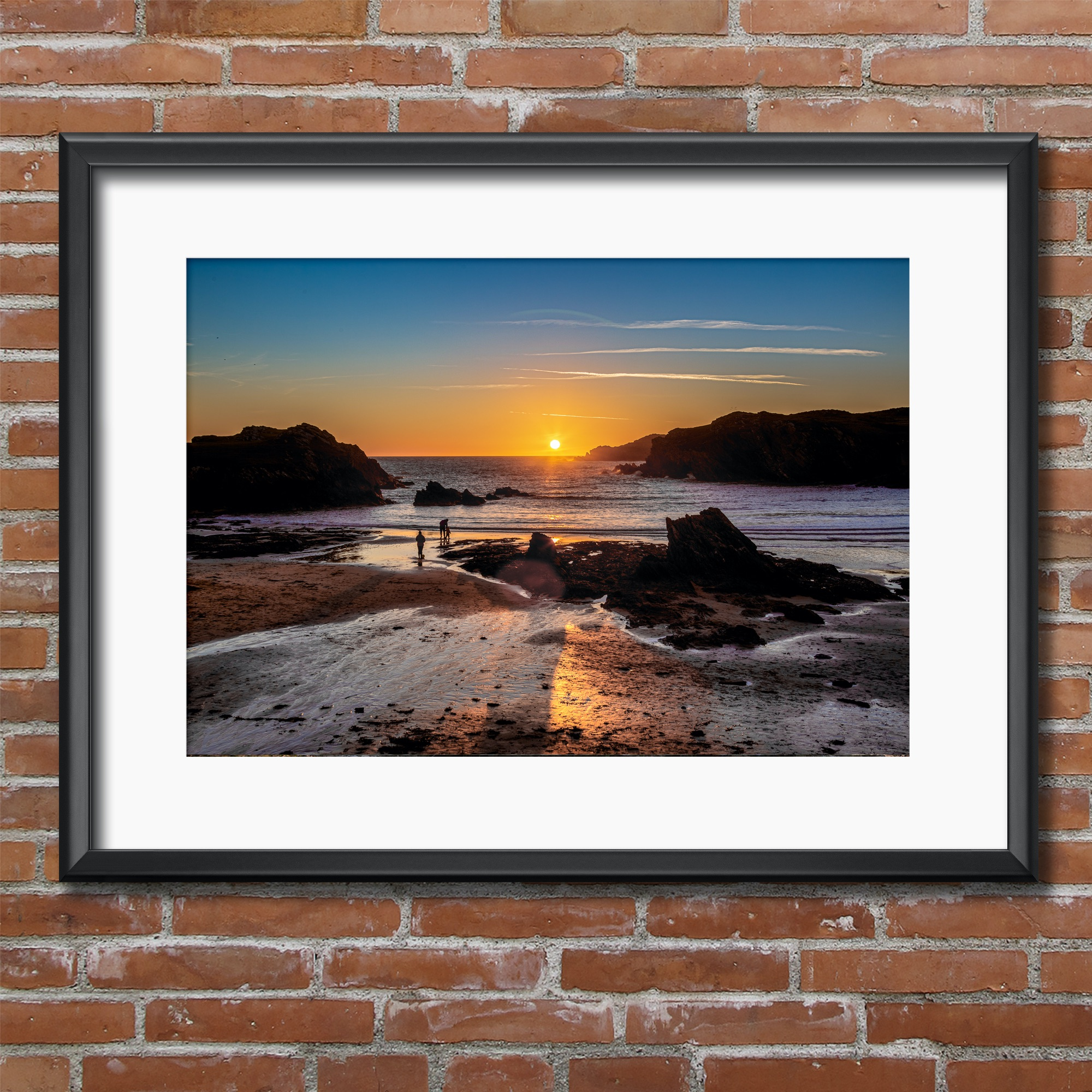 Sunset on Porth Dafarch, Anglesey