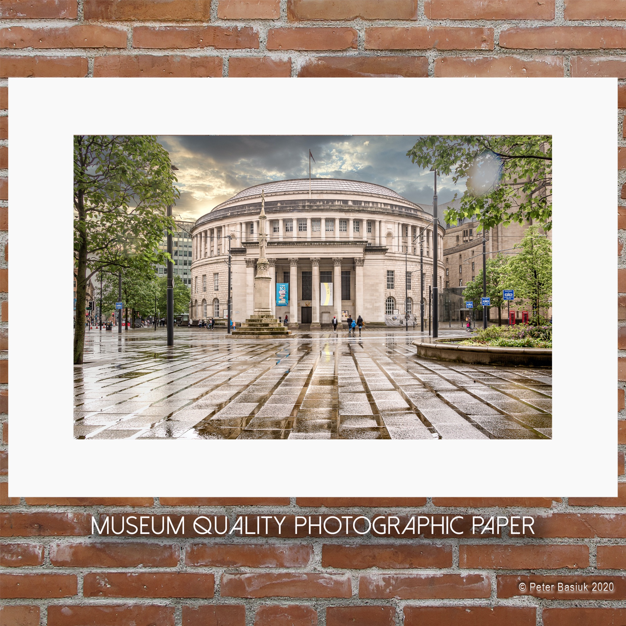 Manchester Library Rain PAPER