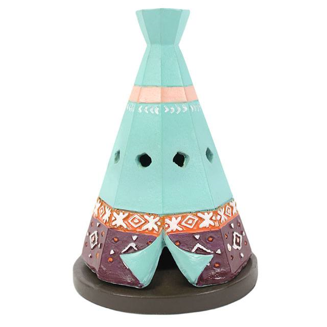 smudge - Cone Burner in 'Teepee'- Native American Indian style design.