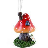 ACCESSORIES - Lisa Parker - fairy village Toadstool design Cone Burner - RED