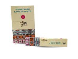 White Sage & Palo Santo Smudge Incense Sticks - Great Aroma. . .