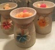 ACCESSORIES ~ OIL/WAX BURNERS ~ Speckled Ceramic Burner ~ 3 colours