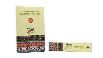 Green Tree - Native Soul ~ Sweet Grass & Yerba Santa Incense Sticks