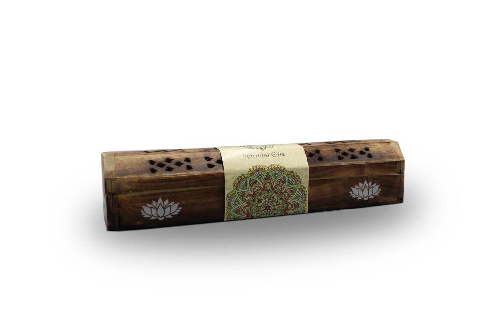Long Smoke Box with Lotus design