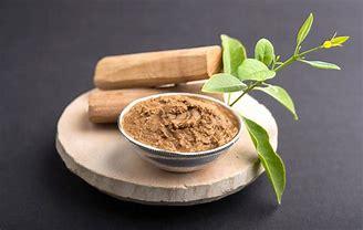 sandalwood wood and powder