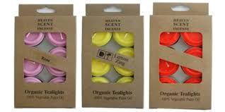 organic tea light x 3