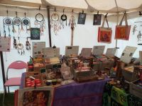 stall in tent