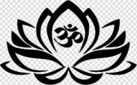 black and white lotus wit om