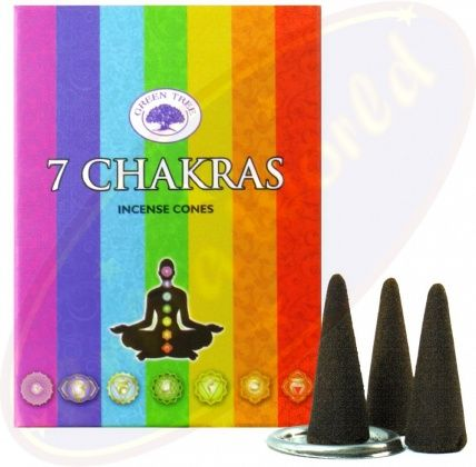 Green Tree - 7 Chakra Incense - CONES