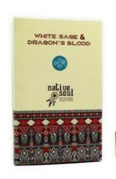 Green Tree - Native Soul ~ White Sage & Dragon's Blood Incense Sticks