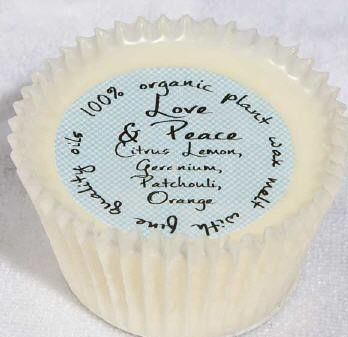 New Product - Cupcake shaped Org Wax Melt/Love & Peace