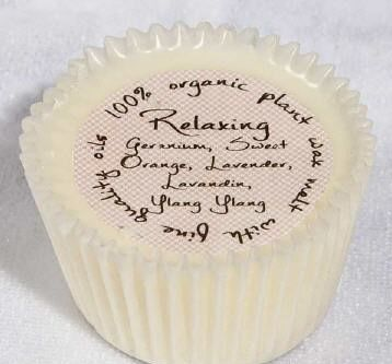 Cupcake shaped Org Wax Melt/Relaxing