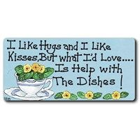 Fridge Magnets - 195 - I Like Hugs And I Like Kisses . . .