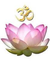 Lotus with Om above
