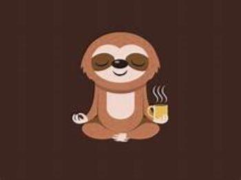 sloth with tea