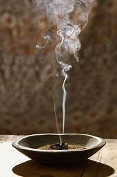in a bowl incense sticks