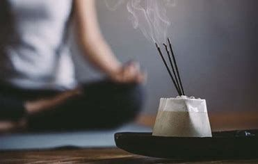 yoga and incense