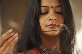 Indian with Incense