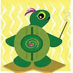 clip art tortoise with incense