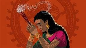 indian incense clipart