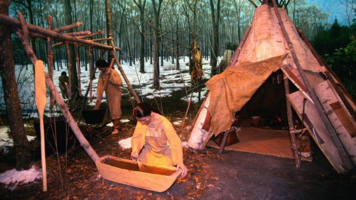 Making up a teepee