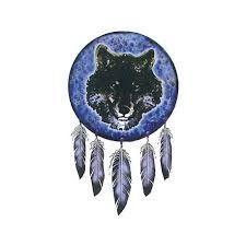 Cartoon Wolf Dream Catcher