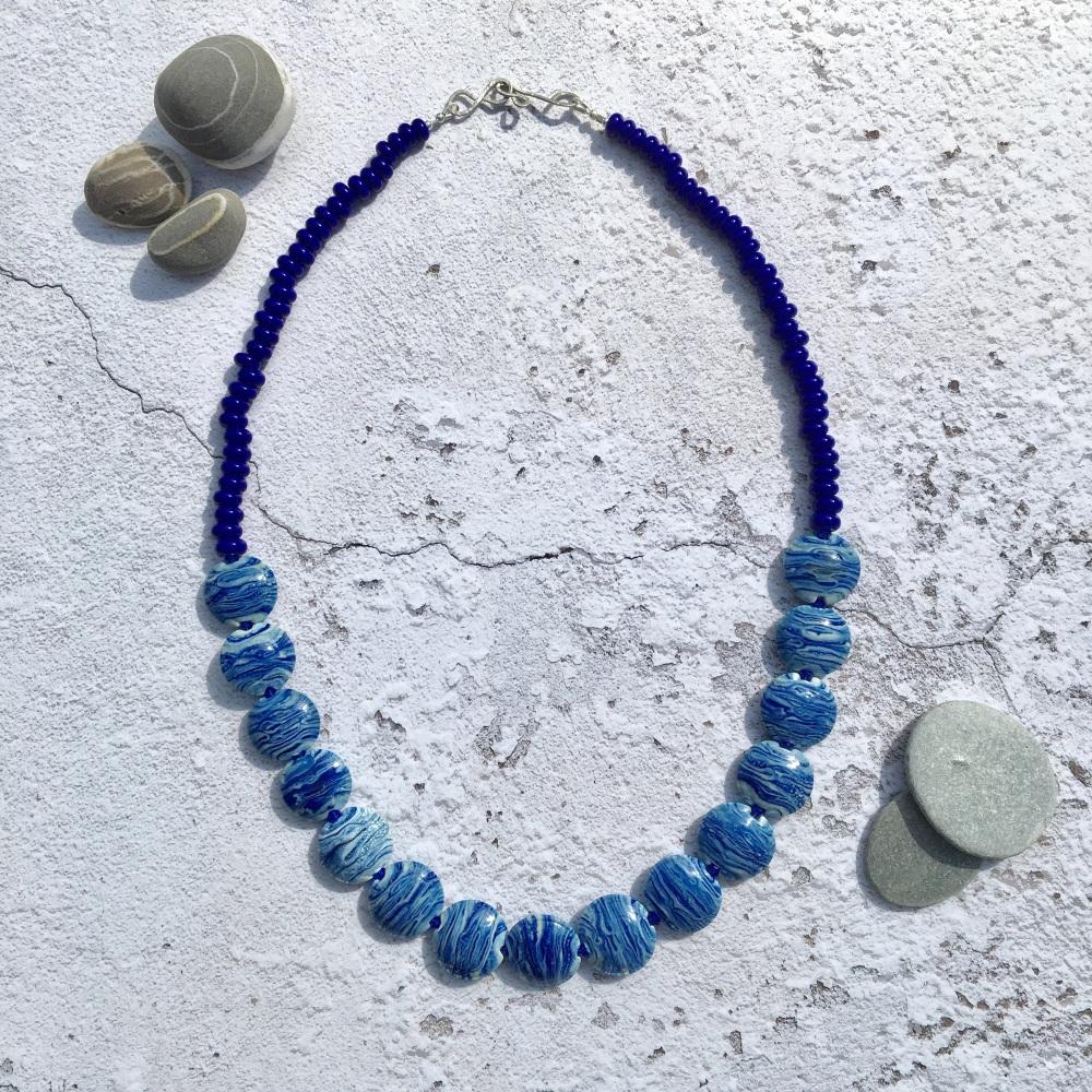 Morvoren Necklace - Blue