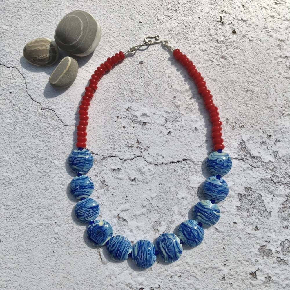 Morvoren Necklace - Red