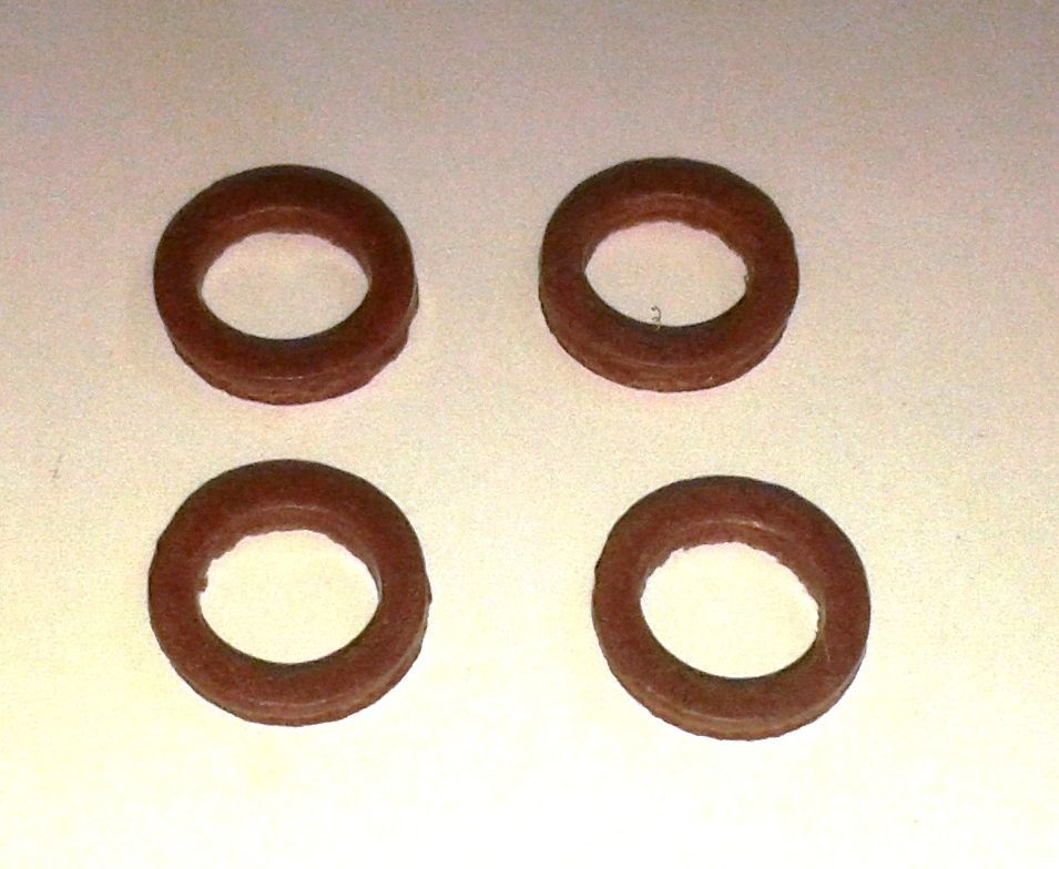 1/4 INCH FIBRE WASHERS, MAMOD / WILESCO STEAM ENGINE SAFETY VALVE OR WHISTL