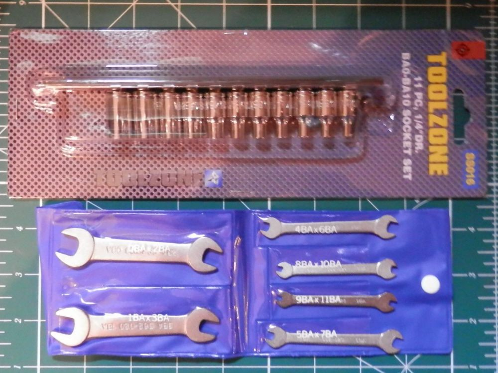 STUART MODELS & OTHER MODEL LIVE STEAM ENGINE BA SPANNER & SOCKET SETS
