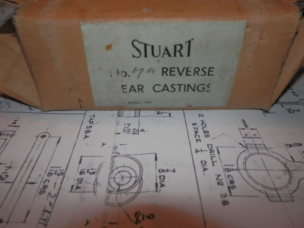 STUART TURNER MODELS No.7a LIVE STEAM ENGINE REVERSE GEAR CASTINGS & DRAWIN