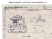 1953 STUART TURNER SUN LIVE STEAM MARINE ENGINE DRAWING AND PARTS LIST (NEW)