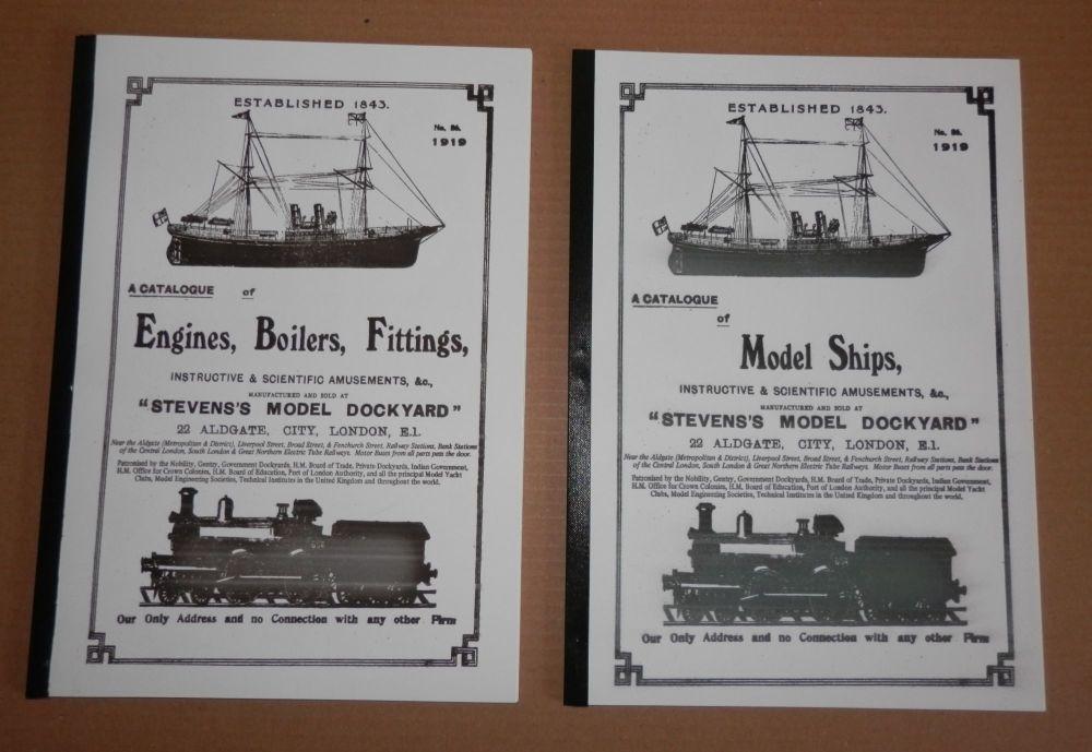 REMASTERED 1919 STEVENS MODEL DOCKYARD CATALOGUE.. BOATS ENGINES BOILERS