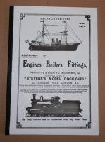 REMASTERED 1919 STEVENS MODEL DOCKYARD CATALOGUE.. ENGINES BOILERS & FITTINGS