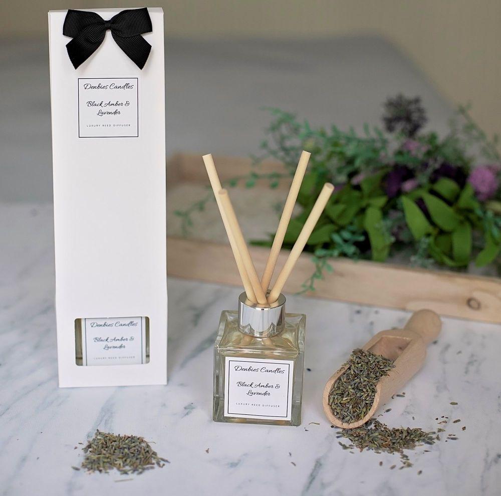 Black Amber & Lavender Luxury Reed Diffuser