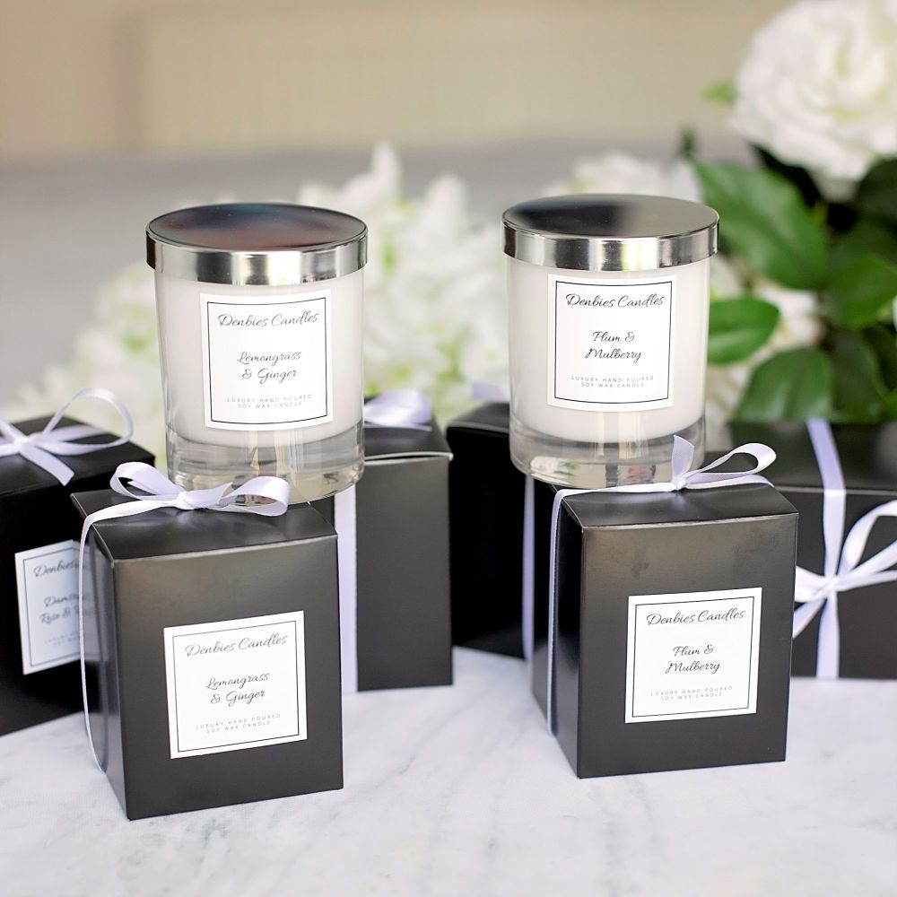 Two Luxury Glass Candles