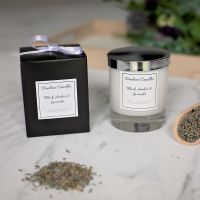 Black Amber & Lavender Luxury Glass Candle