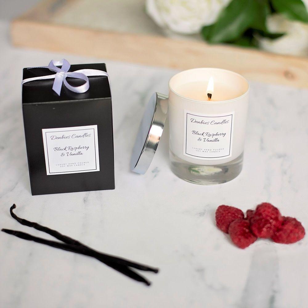 Black Raspberry & Vanilla Luxury Glass Candle