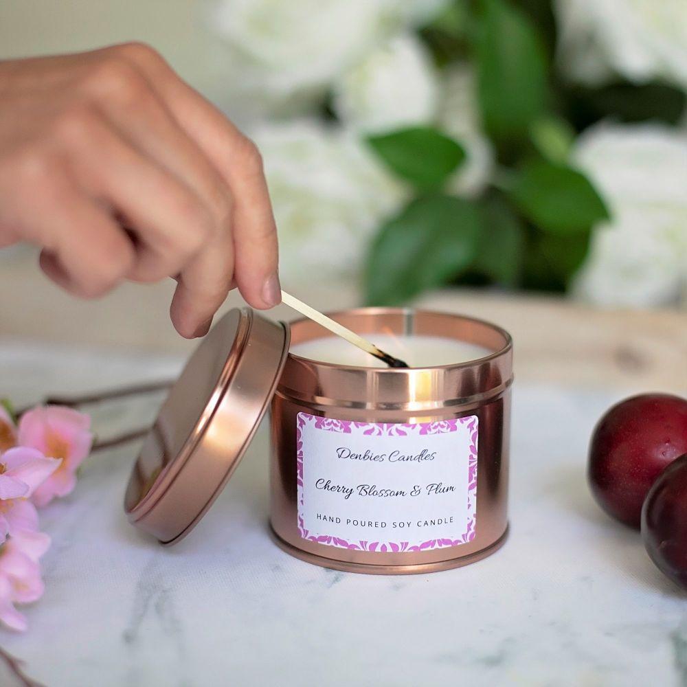 Cherry Blossom & Plum Candle Tin