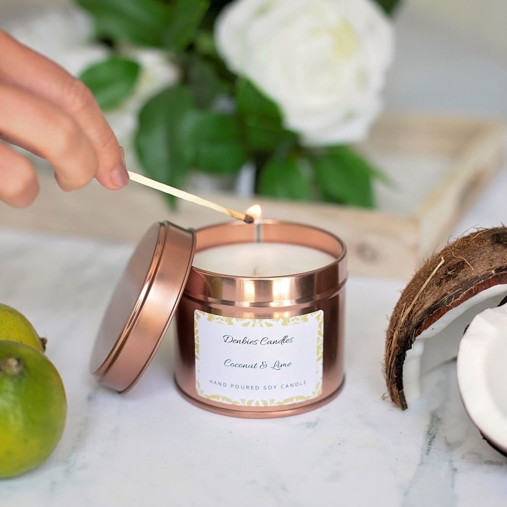 Coconut & Lime Candle Tin