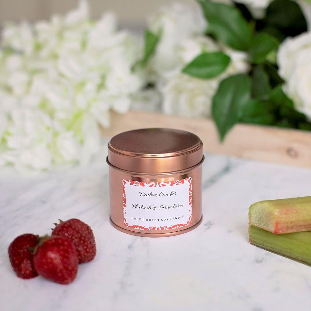 Rhubarb & Strawberry Candle Tin