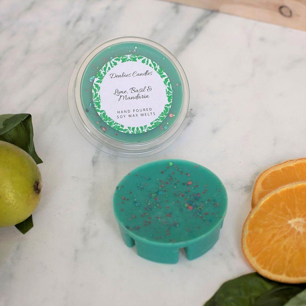 Lime, Basil & Mandarin Segment Pot