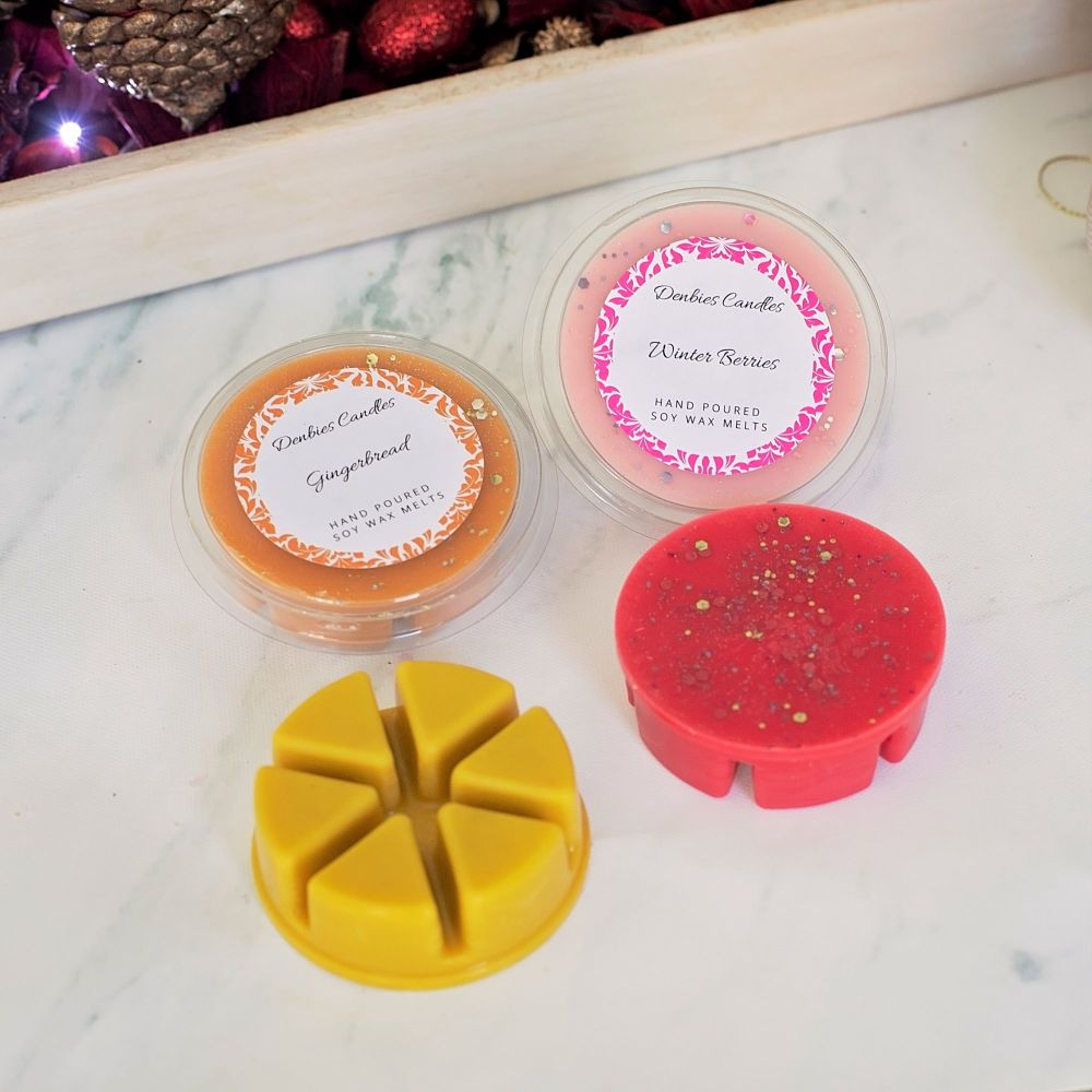 All four Christmas wax melts
