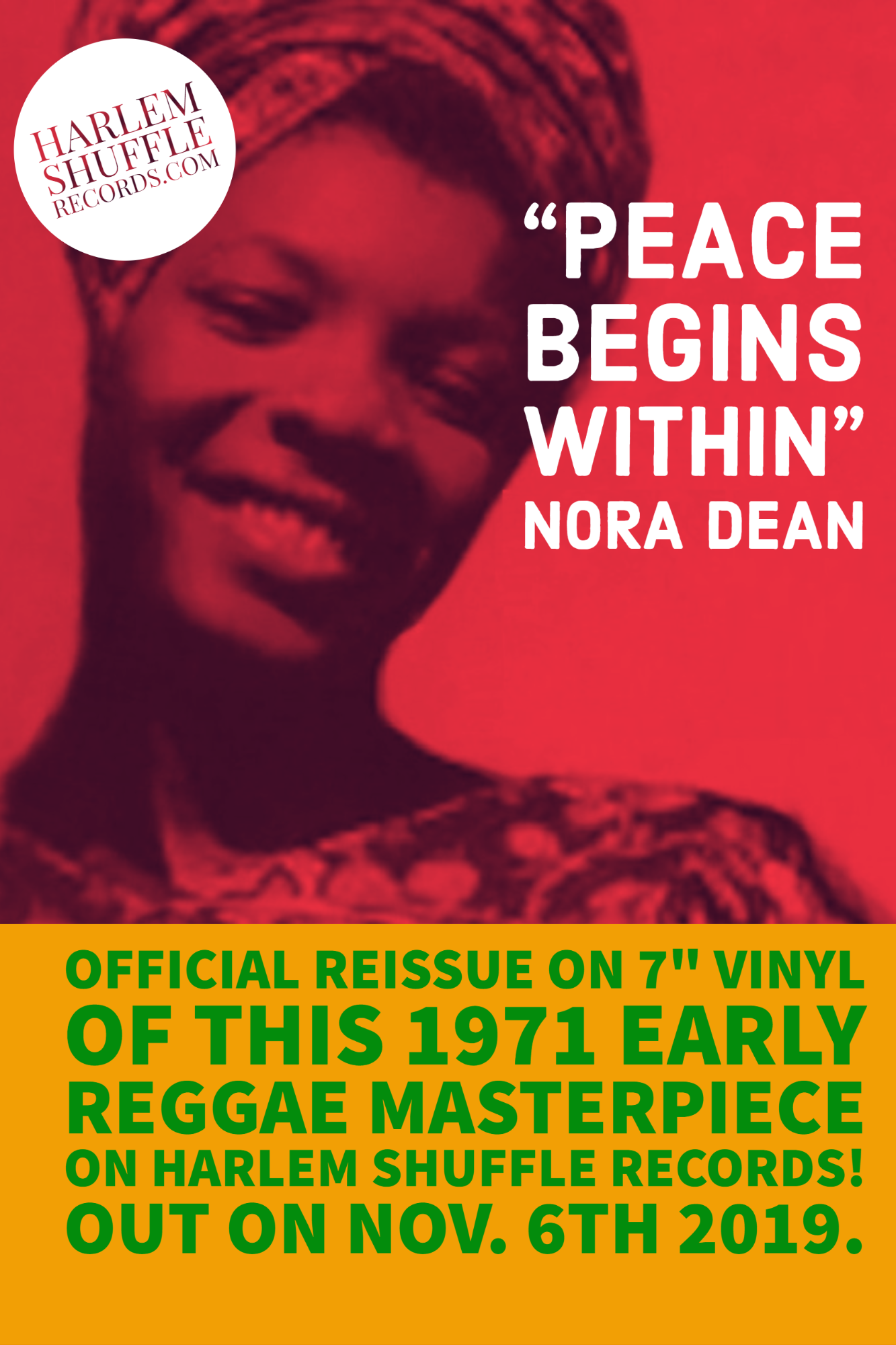"Nora Dean Peace Begins Within - Ay Ay Ay Ay - 7"" vinyl reissue"