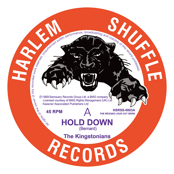 The Kingstonians Hold Down/  Nice Nice  - 7' vinyl  reissue on Harlem Shuffle Records