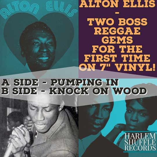 "Alton Ellis - Pumping In / Kock On Wood  (Joe Gibbs version) 7"" vinyl"