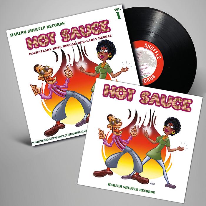 Hot Sauce vol1 - Harlem Shuffle Records - record+ insert - L