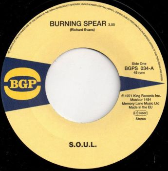 S.O.U.L. - Burning Spear / Do Whatever You Want To Do